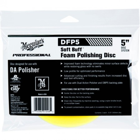 "Polishing disc 5"", gul - Meguiar´s"